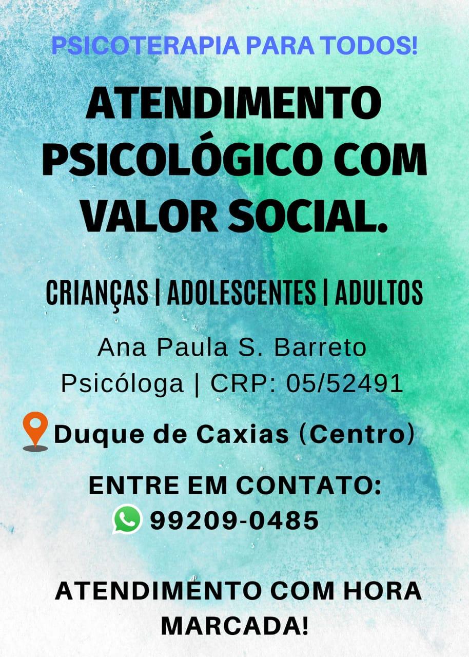 Consultas Psicólogo com valor social